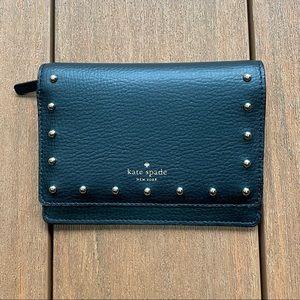 Kate spade Dina Sanders studded black wallet